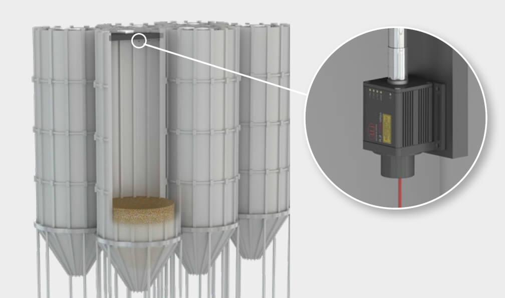 proximity sensor, jual proximity sensor, sensor perpindahan, laser proximity sensor, laser sensor triangulation, proximity sensor struktur bangunan